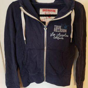 Navy blue True Religion hoodie